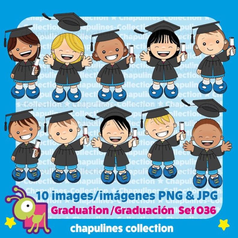 3919fd613dab 60% desc. Clipart Graduación ilustraciones niños graduación | Etsy