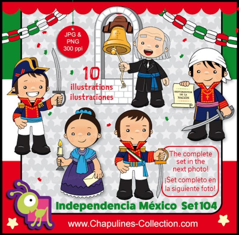 60 Desc Clipart Independencia De México Héroes De La Independencia Clipart Escuela 16 De Septiembre 1810 Fiesta Mexicana Set 104