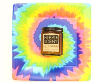 hippie scent 9oz soy candle