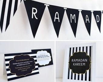 Printable Ramadan Decoration Set (Boutique) Islamic Design,