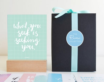 """Box Set Mini Prints, """"Rumi Collection"""" Islamic Quotes and Reminders, Islamic Art"""