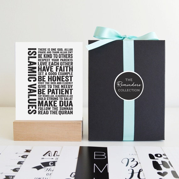 Islamic Quotes Gift Box Set Reminders Collection Mini Islamic Prints Islamic Gift Islamic Art