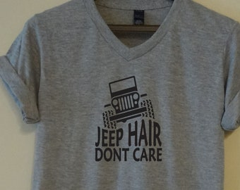 5f82cae5 Jeep Hair Dont Care T-shirt Funny Quote Saying Super Soft Tee Top Short  Sleeve Teen Girls Ladies Womens Gift Top 4x4 Mudder Creek Crawler