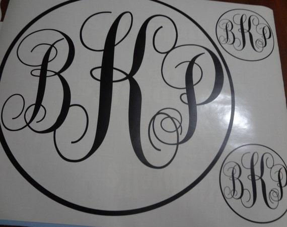 Big 15 20 Inch Initial Monogram Decal Sticker Wall Women s  09878e1cc