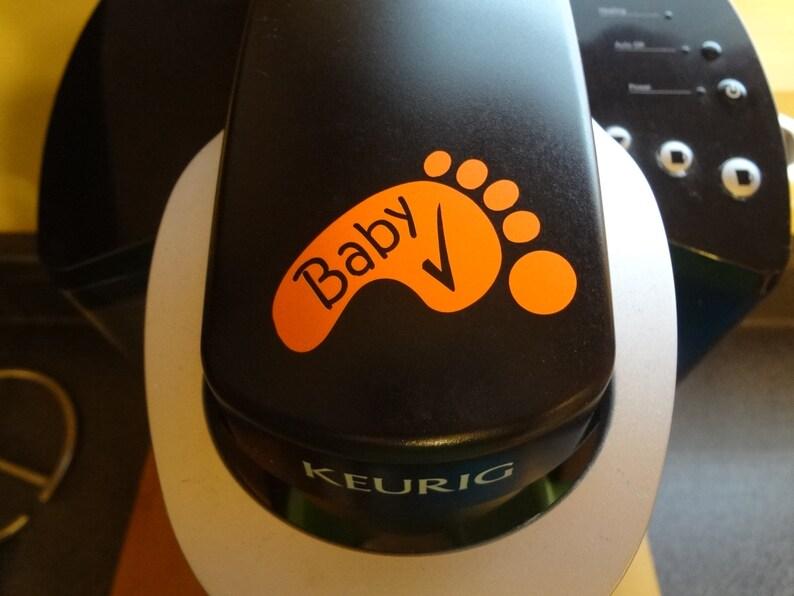 Set Baby Feet Check Decal Footprints Safe on Board Hot Car Reminder Office Home Truck Mom Dad Shower Grandma Grandpa Babysitter