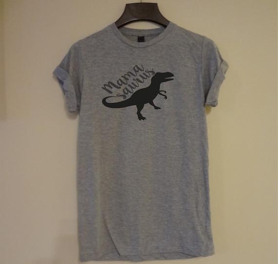 Femmes Mamasaurus T-shirt dinosaure unisexe Tee Top hommes de  1b3e5a22c91