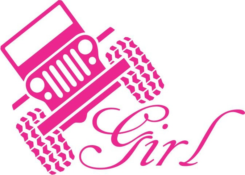 Off Road Girl Wall Decal 4 x 4 Wheeler Decor Fun Mud Runner Creek Climber Women/'s Bedroom Wall Sticker Garage