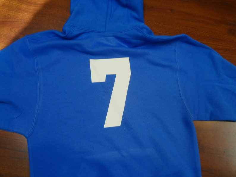 Custom Soccer Hoodie Shirt Name # Team Girls T-shirt Boys gift Youth Soccer Ball Personalized Team Tee Uniform Ball Kids Children Sweatshirt