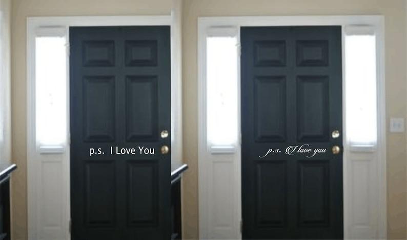 Ps I Love You Interior Door Decal Front Door Welcome Sticker  b131829a0