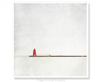 Red Lighthouse Art Print, Dublin Photography Print of Poolbeg Lighthouse Decor, Ireland Prints, Irish Gifts, Housewarming Gift