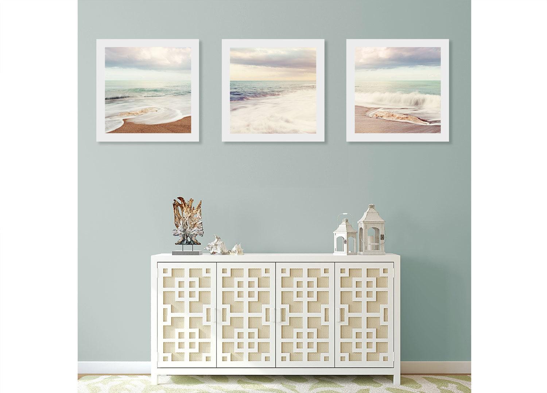 Strand-Wand-Kunst-Druck-Set Kunst für Badezimmer Meer Wand   Etsy