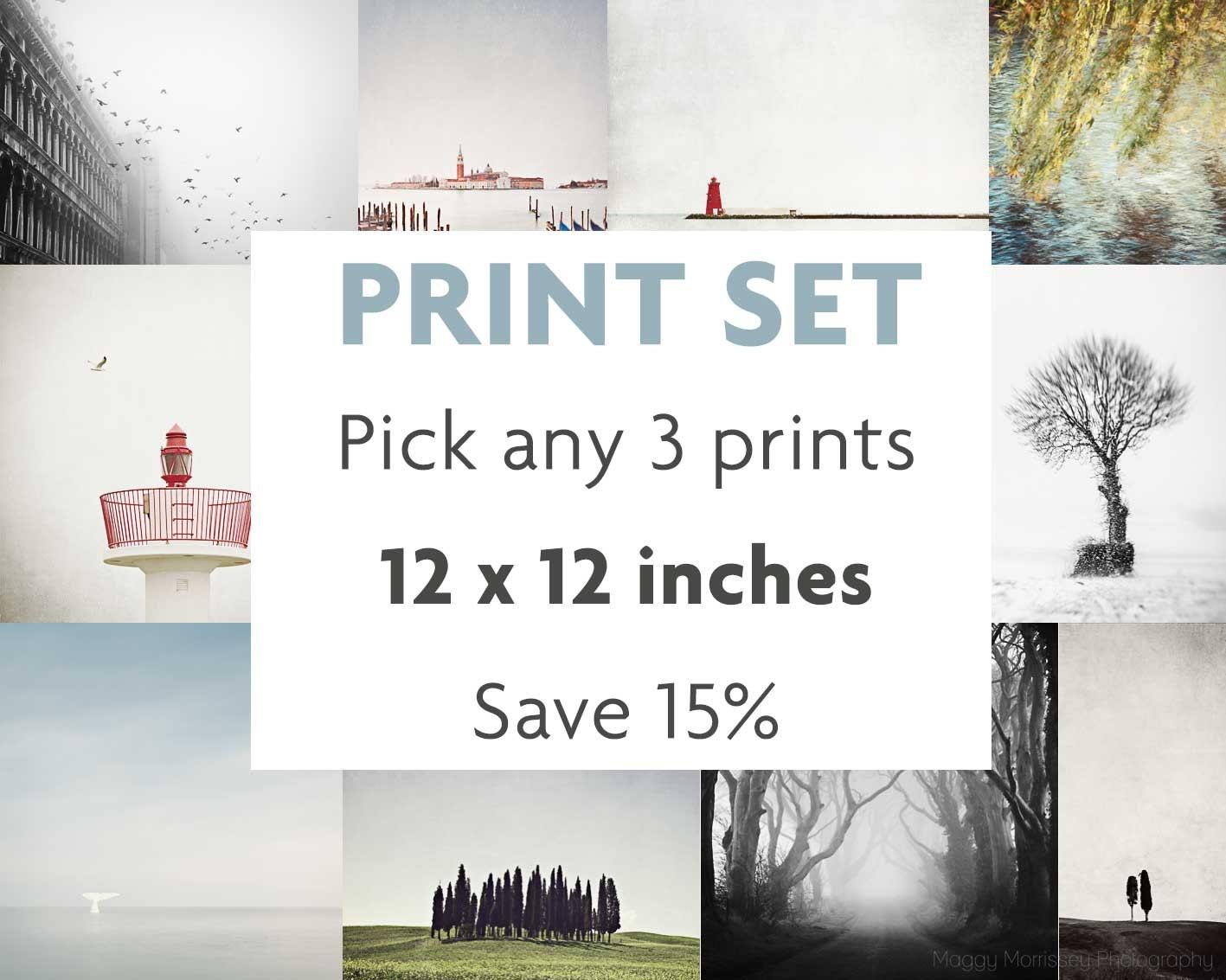 Set aus 3 drucken wählen Sie Ihre eigene Art Print Set