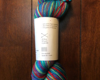 String Theory Colorworks Sock Yarn, 1 skein! Plus unique stitch marker!