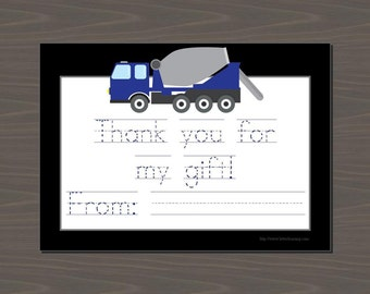 Cement Mixer Thank you, Concrete Mixer Thank You, Cement Mixer Stationery, Cement Mixer Cards, Cement Mixer Thank You Notes, Truck Thanks
