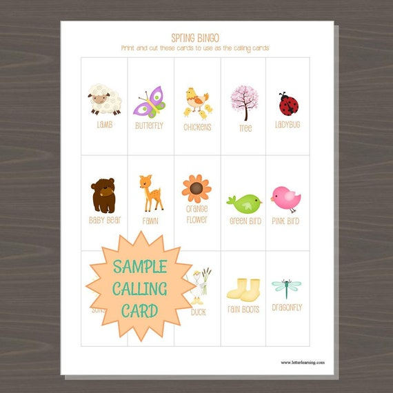 photograph relating to Spring Bingo Game Printable identified as Spring Bingo Sport, Printable Spring Bingo Board Recreation for Small children, 12 Substitute Bingo Forums and Contacting Playing cards, Bingo Sport for Little ones