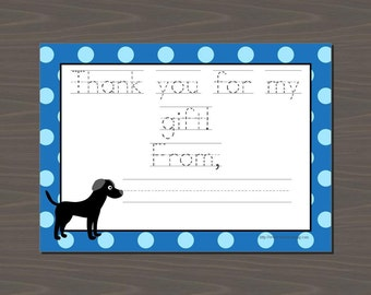 Puppy Dog Thank You Notes, Dog Thank You, Black Lab Stationery, Dog Stationery, Puppy Stationery, Puppy Thank You Cards, Puppy Note Cards