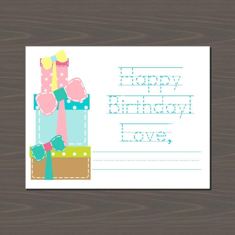 Happy Birthday Cards For Kids Stack Of Gifts Card