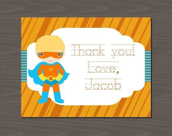 Superhero Invitations, Superhero Thank You Cards, Superhero Thank You Notes, Superhero Stationery Set | Digital or Print | Superheroes