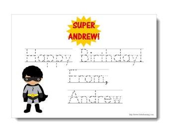 Personalized Superhero Birthday Notes Set | Digital or Print | Cute Superhero Stationery Set