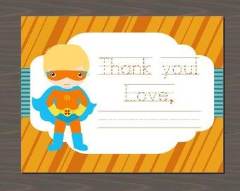 Superhero Thank You Cards, Superhero Thank You Notes, Fill in the Blank Superhero Thank You Cards | Thank You Cards for Kids, 12 Card Set