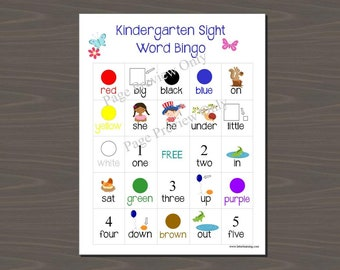 Sight Word Bingo Printable, You Print SightWord Bingo - Class Set (25 Different Cards) and Calling Cards included