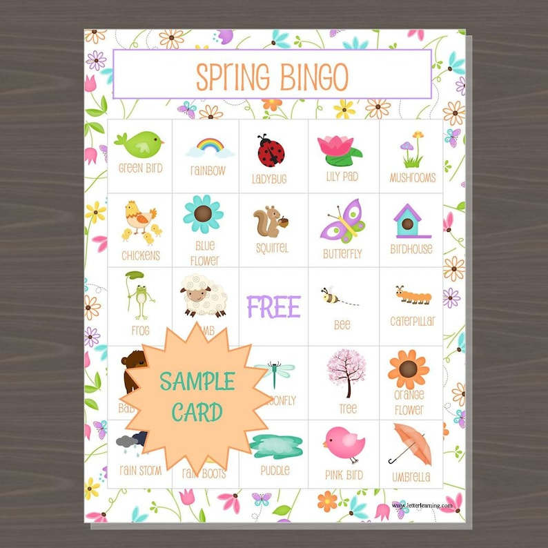 graphic regarding Spring Bingo Game Printable named Spring Bingo Sport, Printable Spring Bingo Board Video game for Children, 12 Alternative Bingo Discussion boards and Getting in contact with Playing cards, Bingo Match for Children