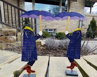 Judie Bomberger Sculpture of the Cirque Du Soleil Invisible Man (Pair)