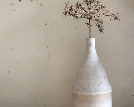 VASE - height 27 cm, vase design,  natural tones, one of a kind