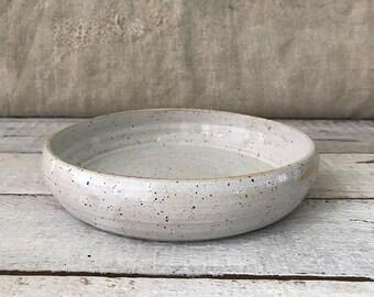 BOWL, diameter 19 cm, speckled bowl, ceramic basics, rustic pottery bowl, fruit bowl, salad bowl,  food photography, simplify