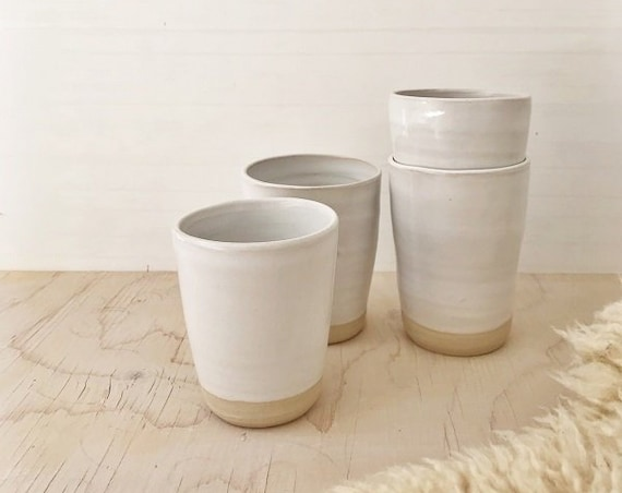 SET OF 4 CUPS - s w e d e n  - modern rustic, simplify