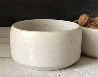 BOWL, diameter 13 cm, speckled bowl, ceramic basics, rustic pottery bowl, fruit bowl, salad bowl, nut bowl,  food photography, simplify