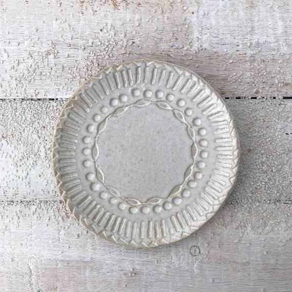 PLATE - i b i z a - dia 17 cm, bohemian style, side dish, dessert