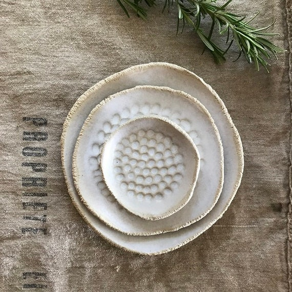 SET OF 3 PLATES - g r e e c e - one of kind set