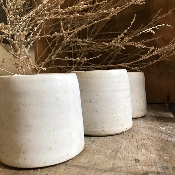 MUG - j a p a n -  matt white,  speckled, wheelthrown, ceramic basics, rustic pottery, modern rustic, simplify