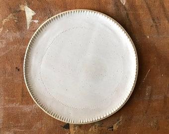 PLATE, dia 21 cm, speckled, matt glaze, food photography, food styling