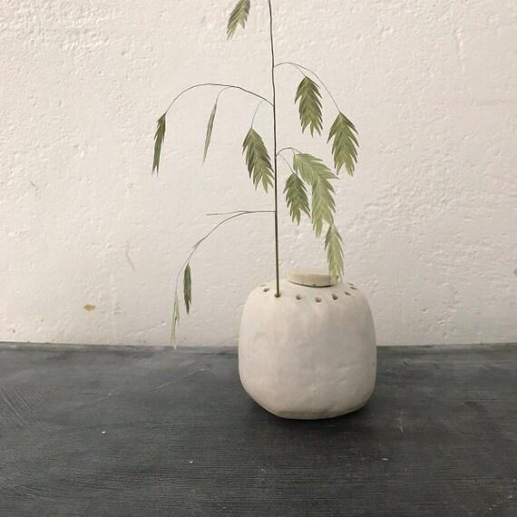 VASE - matt white, height 8 cm, vase design, flower vase