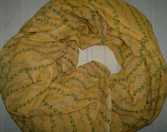 Square Scarf Indian Cotton Scarf Yellow Slub Scarf