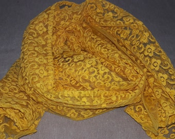 Long Scarf Yellow Scarf Indian Scarf Fashion Scarf LSF1