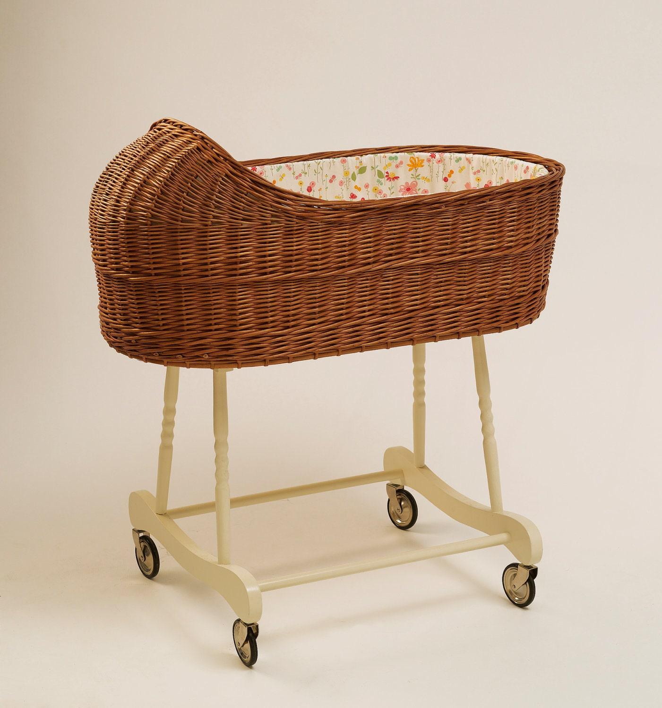 Wicker Baby Bassinet / Baby Crib Fragilis Brown | Etsy
