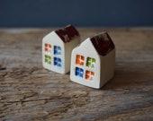 Miniature HOUSE Ceramic house with Windows I Love my HOME Thankyou favor Small Gift Home Decor Small House Beach House
