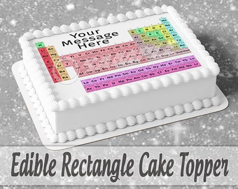 Periodic Table of Elements ~ Frosting Sheet Cake Topper ~ Edible ~ D20127