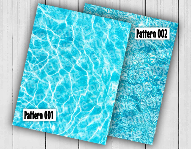 Wrap Icing Frosting Image Fabric Wafer Sticker Decal Decoration EDIBLE PAPER Water Pattern 8 x 10