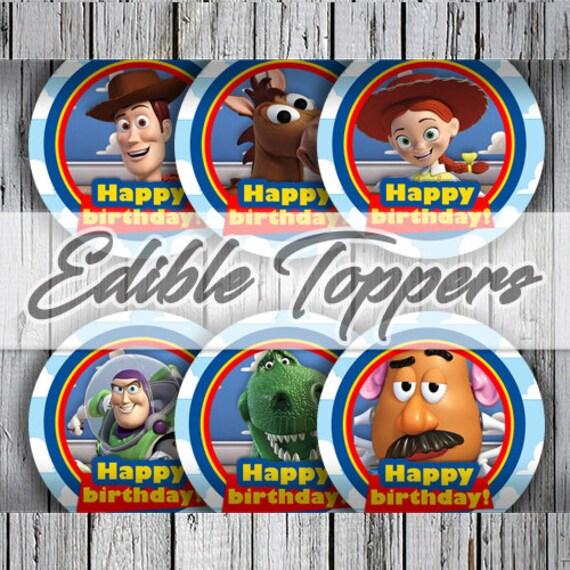 24 Toy Story Birthday Party Baby Shower Lollipop Stickers Woody Buzz Jessie