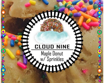 CLOUD NINE (Maple Donut & Rainbow Sprinkles) Edible Cookie Dough - Made to Order - Safe to Eat Raw
