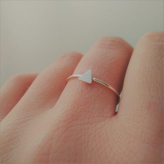 Triangle Sterling  Silver Ring