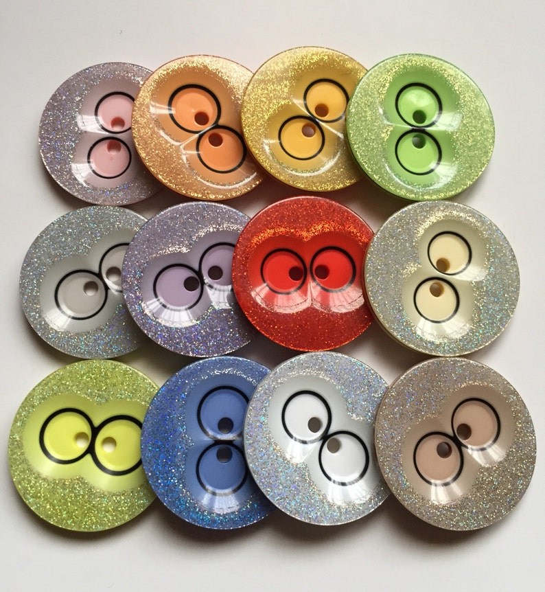 1pc 3pcs Quality Owl Eyes Glitter Buttons 39mm Wide Sewing Craft Jacket Shirt Skirt Trousers Coat Many Colours