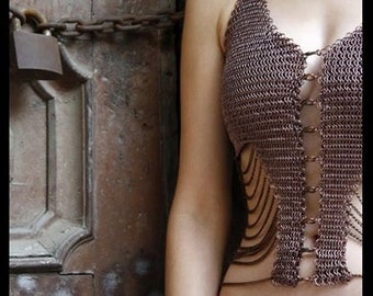 b1fbf97e3cf21e Chainmail Top With Chains In Copper Color