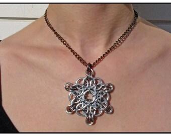 Unique Chanmail Celtic Star Necklace
