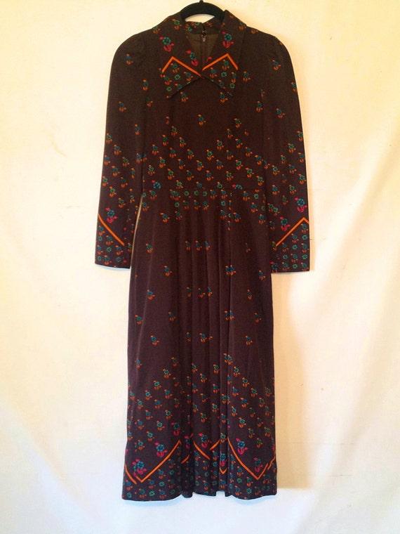 vintage dress 1970s dress vintage brown day dress
