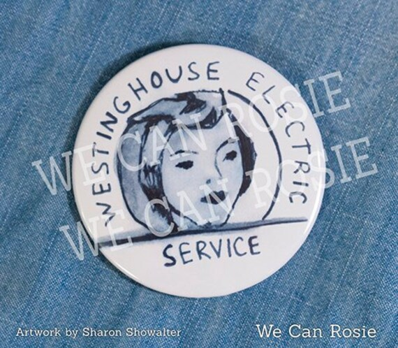 rosie the riveter pin rosie button for costume employment etsy